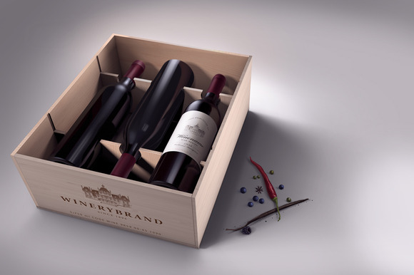 Wine Case Mock-up
