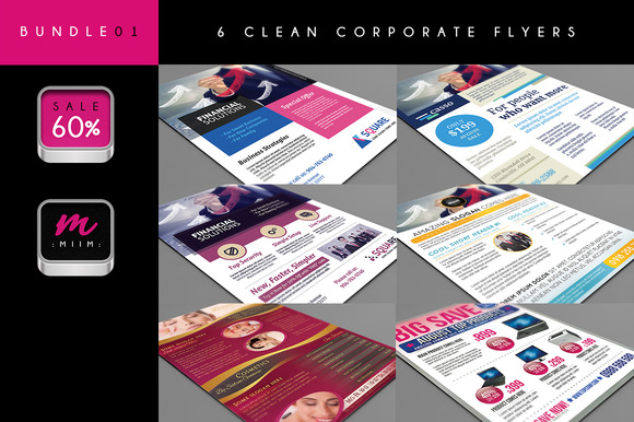 6 Corporate Flyer Bundle