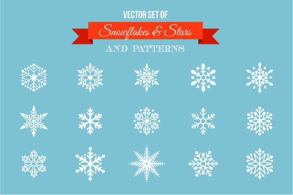 Snowflakes Stars Icons Patterns