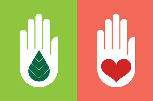 Hand With Leaf Heart
