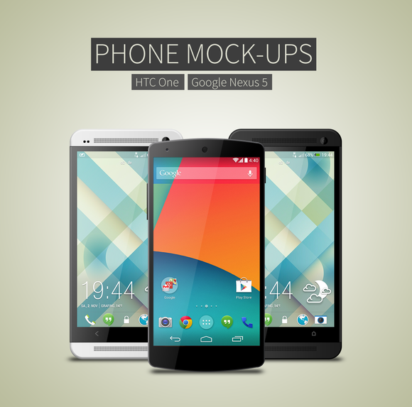 Android Phone Mockups