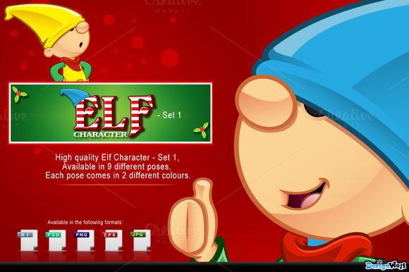 Elf Mascot Set 1