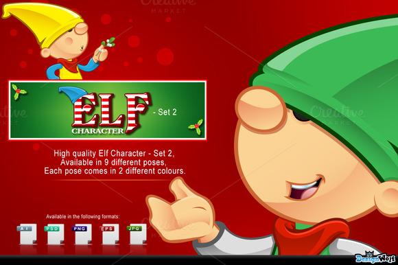 Elf Mascot Set 2