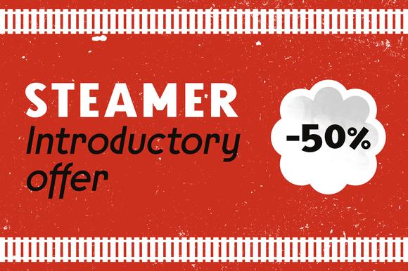 Steamer Font Family 50 %