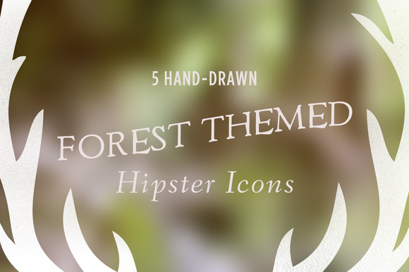 5 Forest Themed Hipster Icons