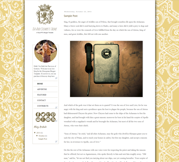 Tea Crumpets Blogger Template
