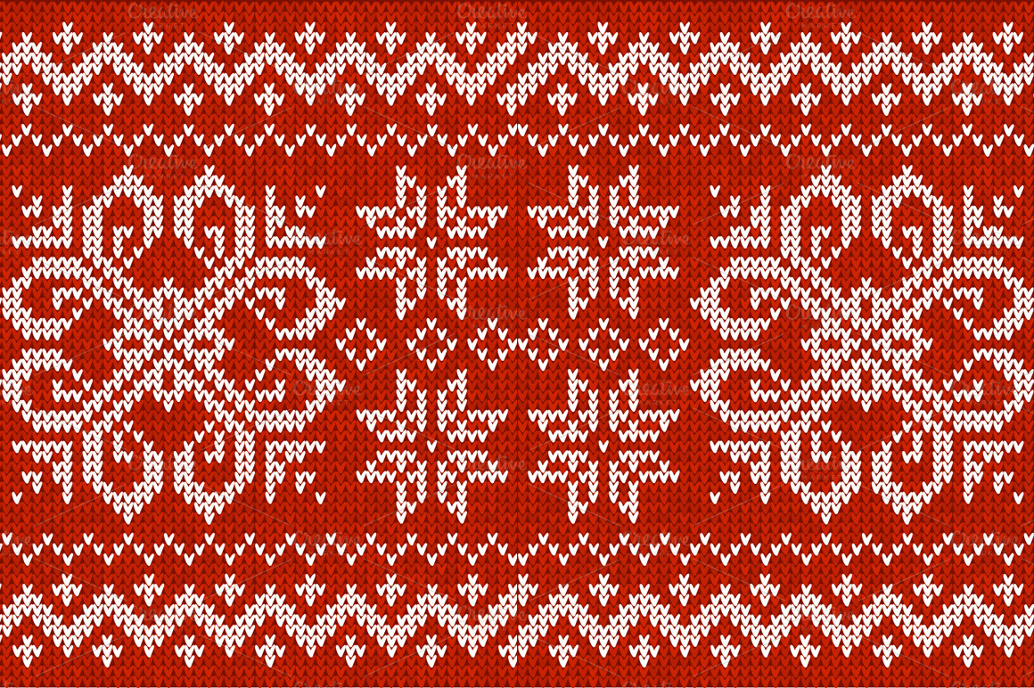 Superb christmas sweater pattern background