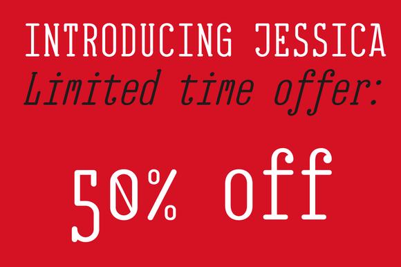 EB Jessica Font Family 50 %