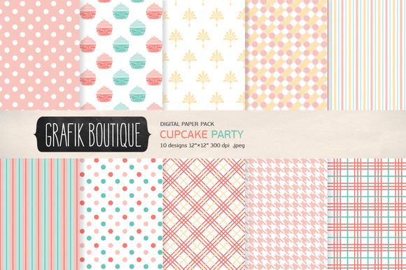 Cupcake Polkadot Papers