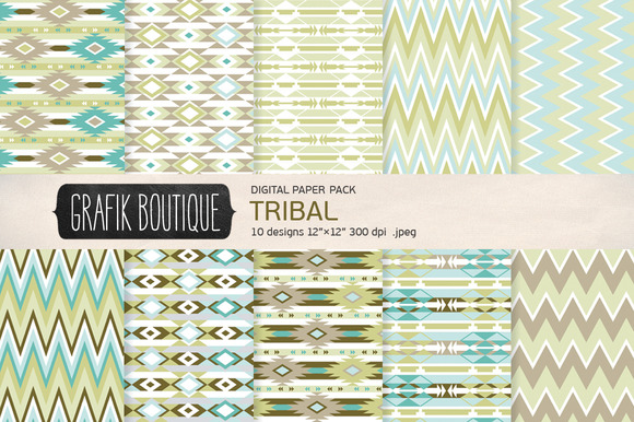 Tribal Pattern Olive