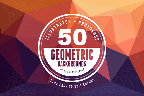 50 Geometric Backgrounds