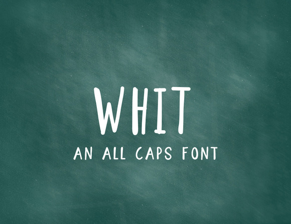 Whit An All Caps Font