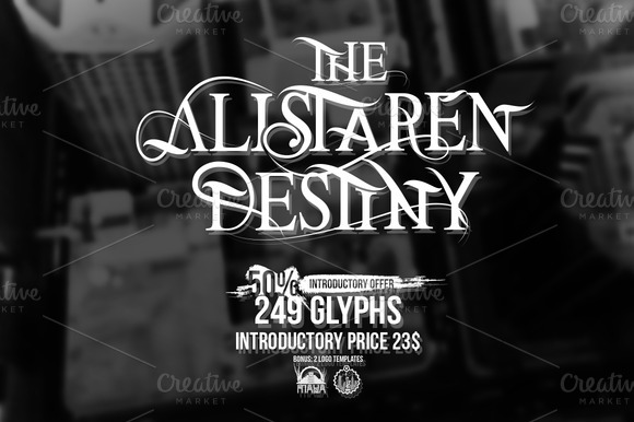Font The Alistaren 50% Off
