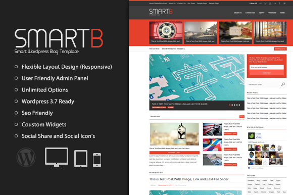 SmartB Magazine Wordpress Theme