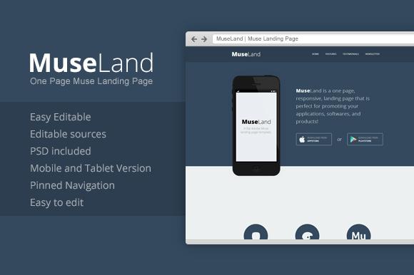 MuseLand Muse Landing Page