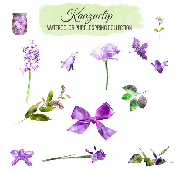 Watercolor Purple Spring Collection