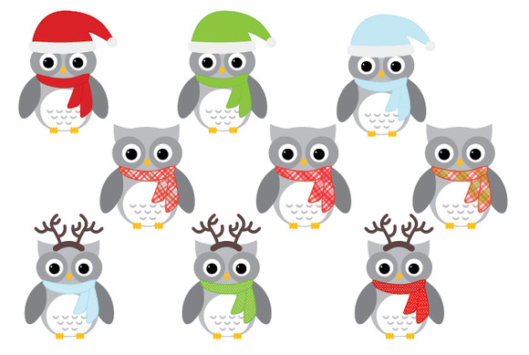 Christmas Owls Set