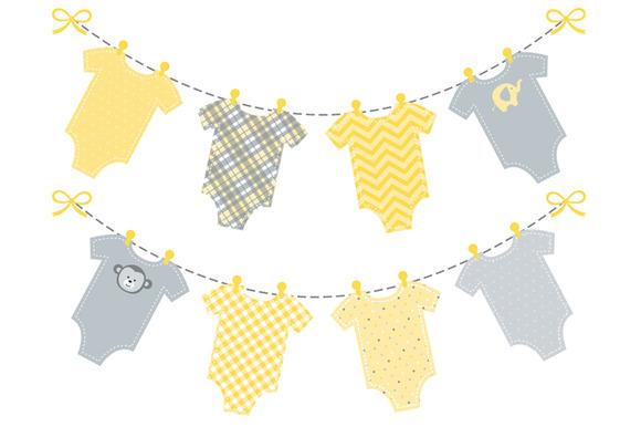 Baby Yellow Onesie Bunting Banner