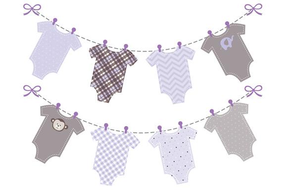 Baby Girl Purple Onesie Banner