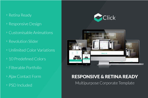 Click One Page HTML5 Template