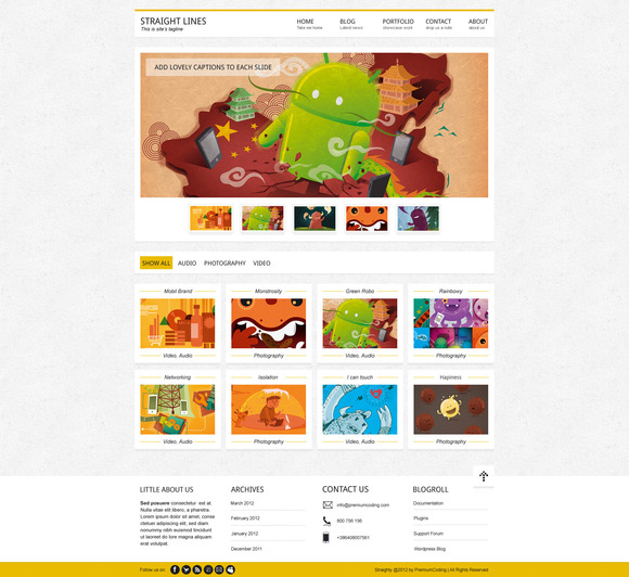 Mistix Portfolio HTML Template