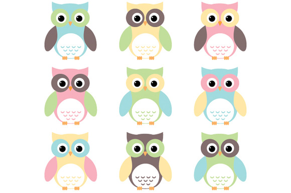 Owls Baby Pastels