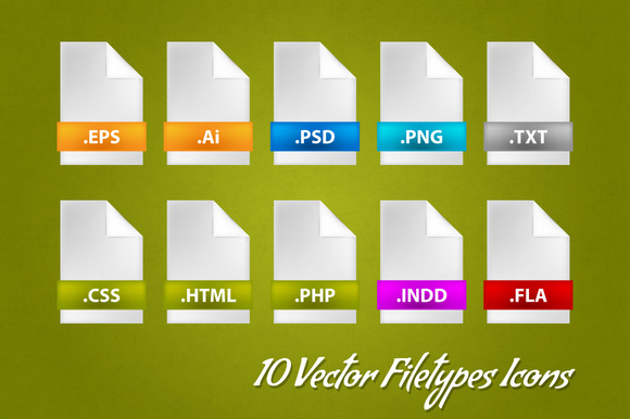 10 Vector Filetypes Icons