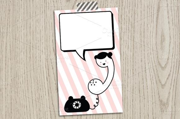 Phone Girl Calling Card Template
