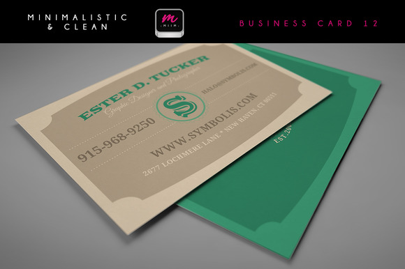 Clean Business Card Template 06