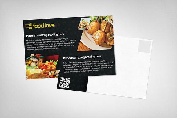 Food Love Postcard