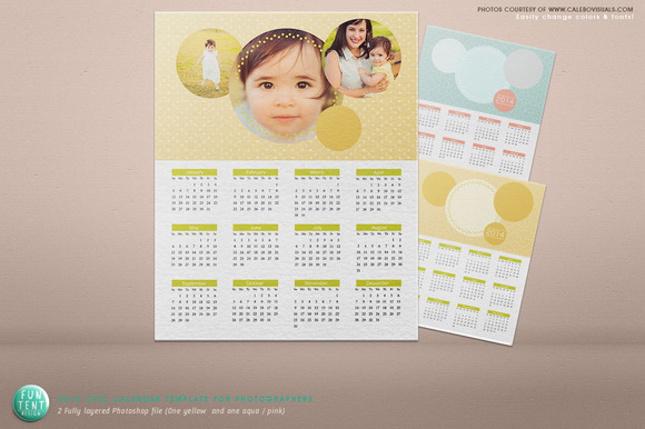 Photoshop Calendar Chic Photo 2014
