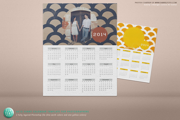 Sunny And Earth 2014 Calendar Psd