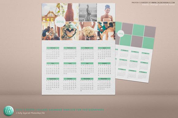 Serenity 8 Photo 2014 Calendar PSD