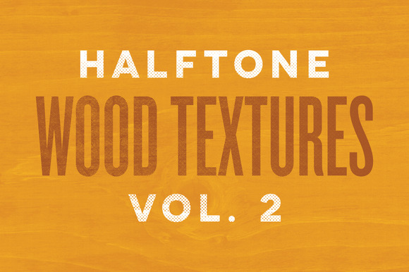 Halftone Wood Textures Vol 2