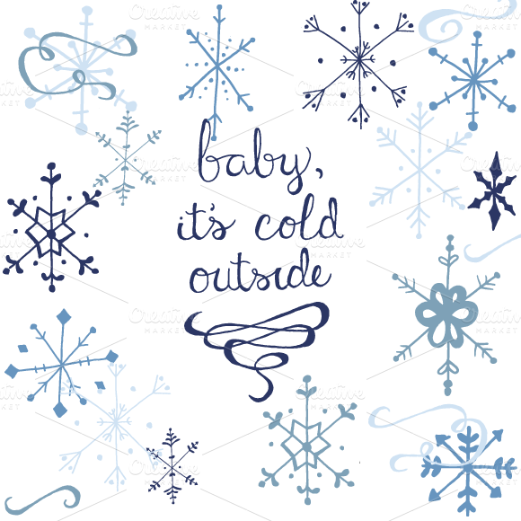 Winter Snowflake Graphics