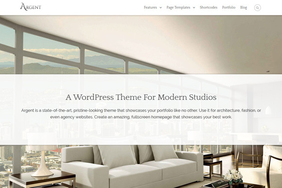 Argent Modern WordPress Theme