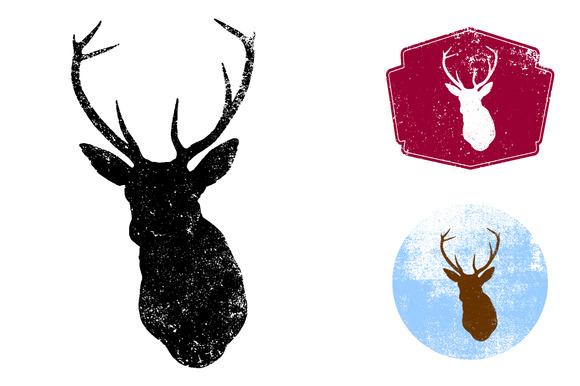 Textured Deer Head Vector