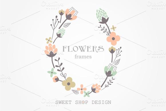 Flower Frames Clip Art N01