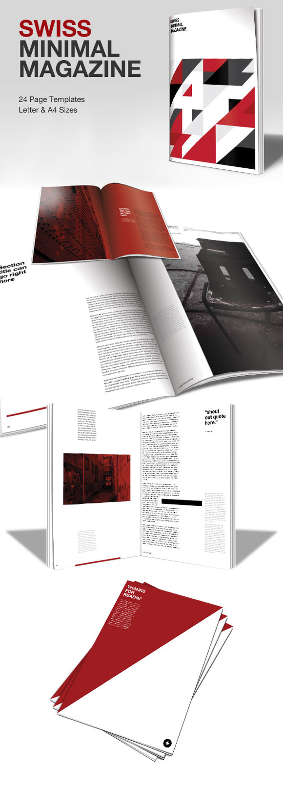 Swiss Minimal InDesign Magazine