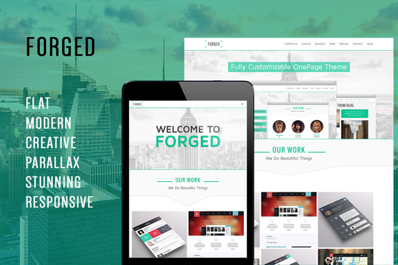 Forged OnePage Parallax Theme