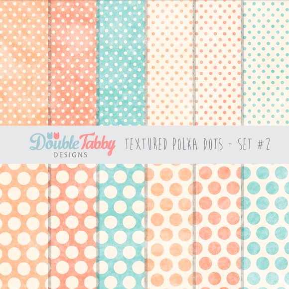 Textured Polka Dot Paper Pack Set2