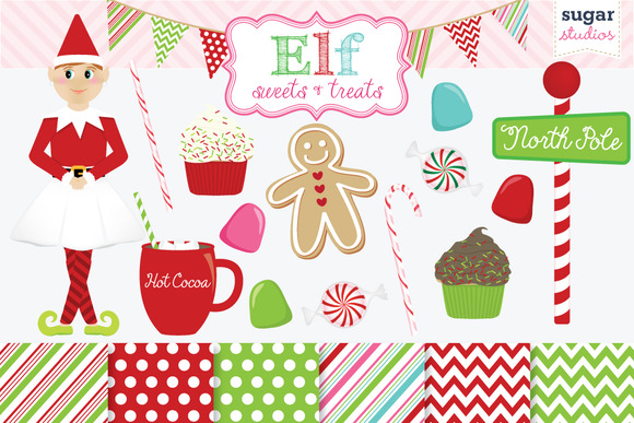 Girl Elf Holiday Sweets And Treats