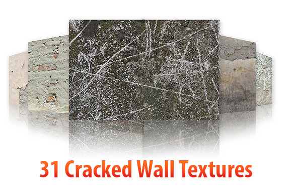 31 Cracked Wall Textures