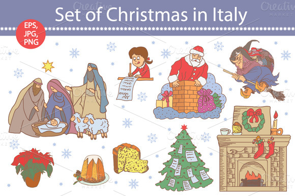 Set Of Christmas In Italy