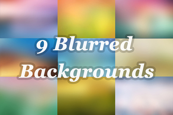 9 Beautiful Blurred Backgrounds