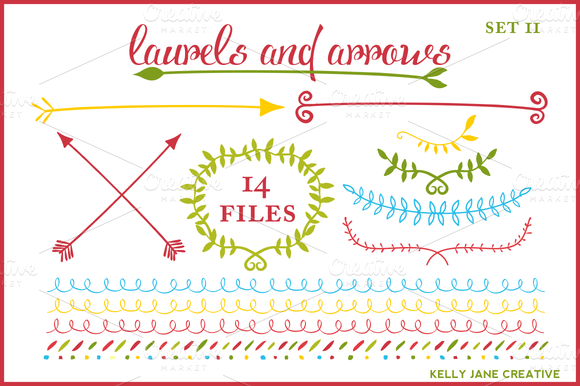 Arrows Laurels Holiday Vector