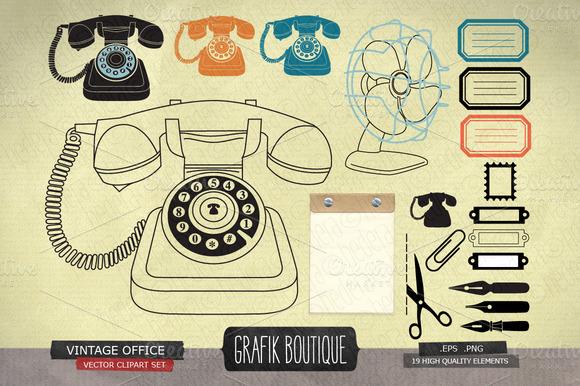 Vintage Office Retro Phone
