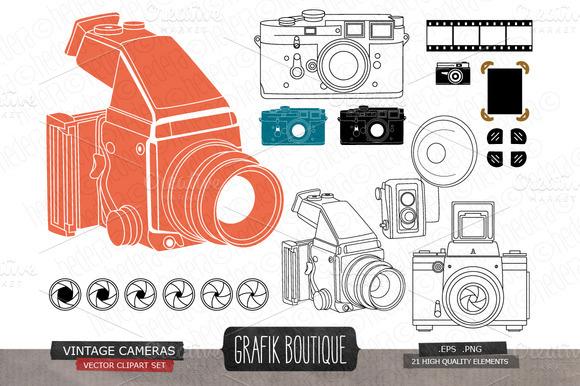Vintage Cameras Photo Frame