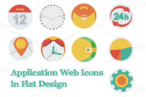 Application Web Icons In Flat Design