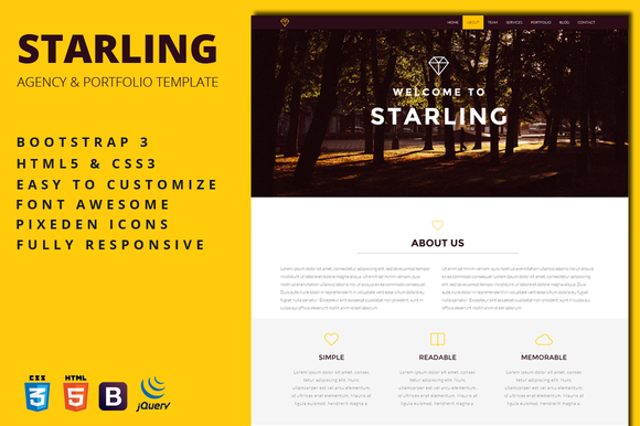 Starling Creative Agency Template